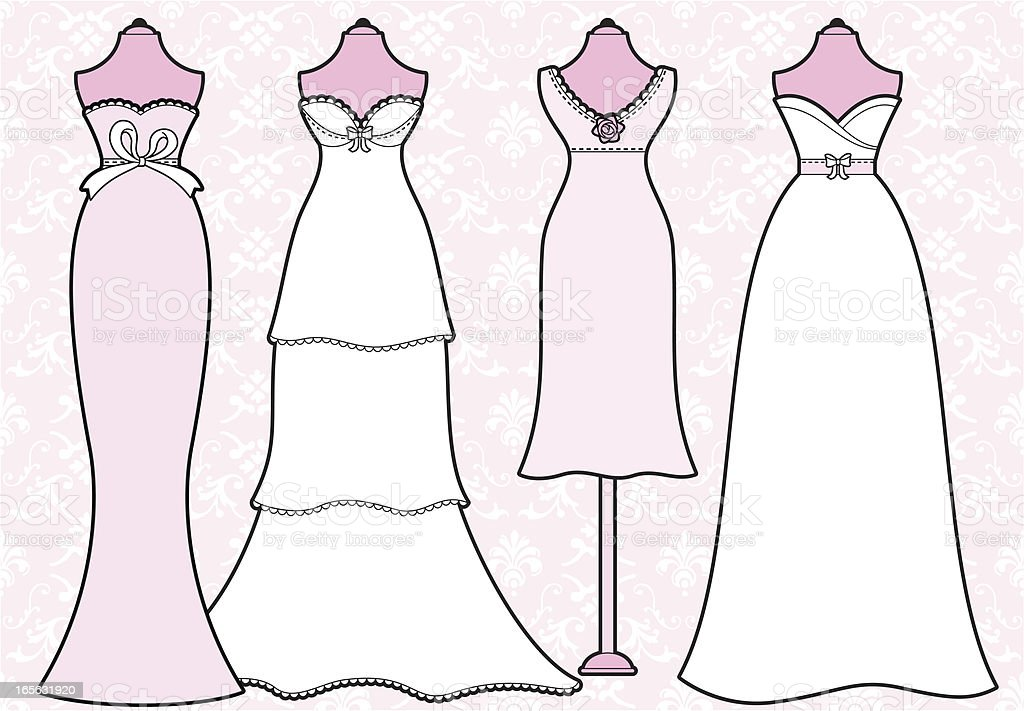 Girly Wedding Dresses royalty-free girly wedding dresses stock vector art & more images of beauty