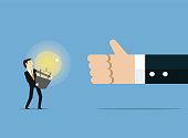 Human Hand, Business, Plan, Light Bulb, Idea