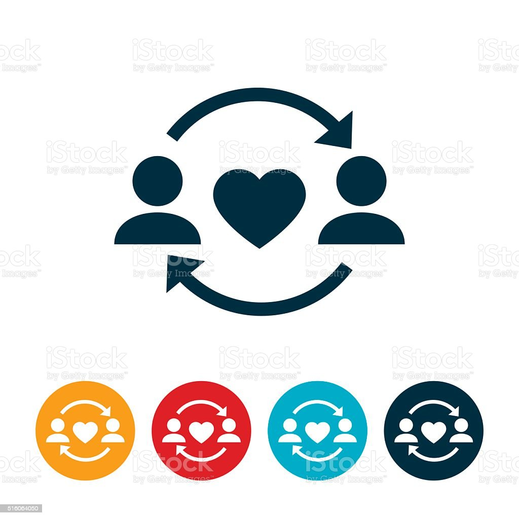 Give and Take Relationship Icon vector art illustration