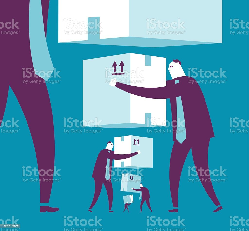 Give and Take vector art illustration