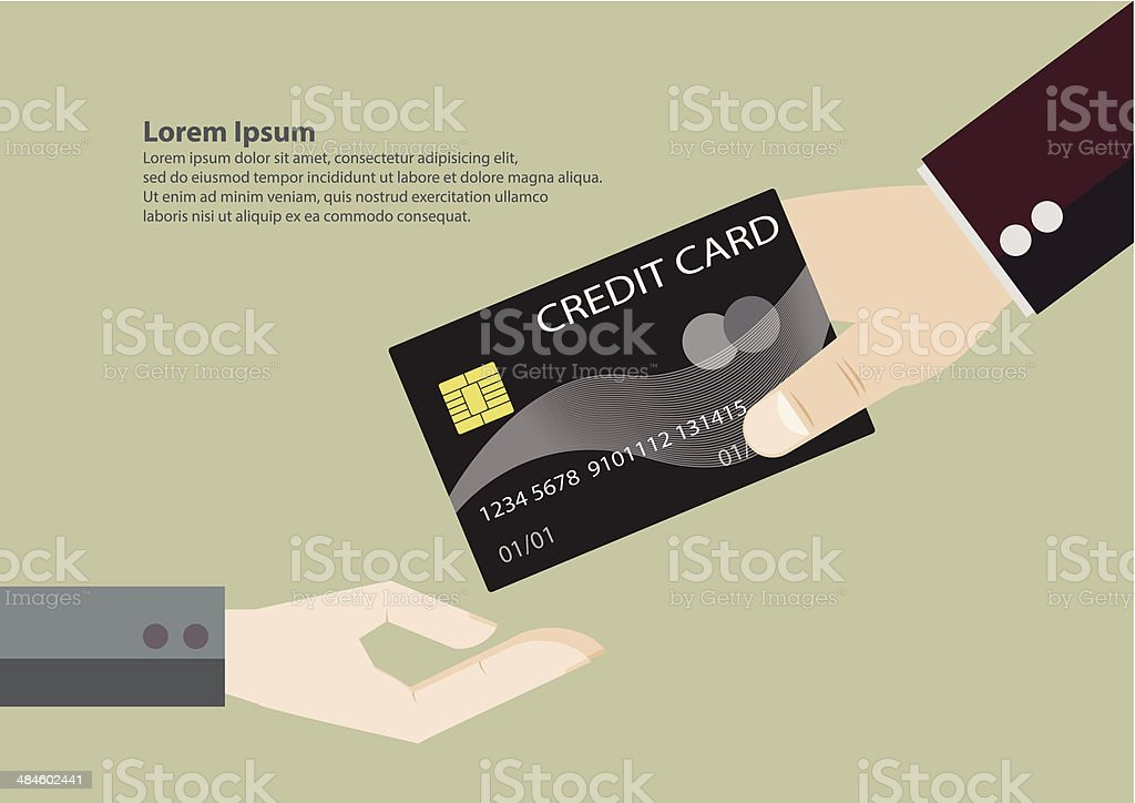Give Credit Card Cartoon Vector Stock Vector Art & More Images of ...