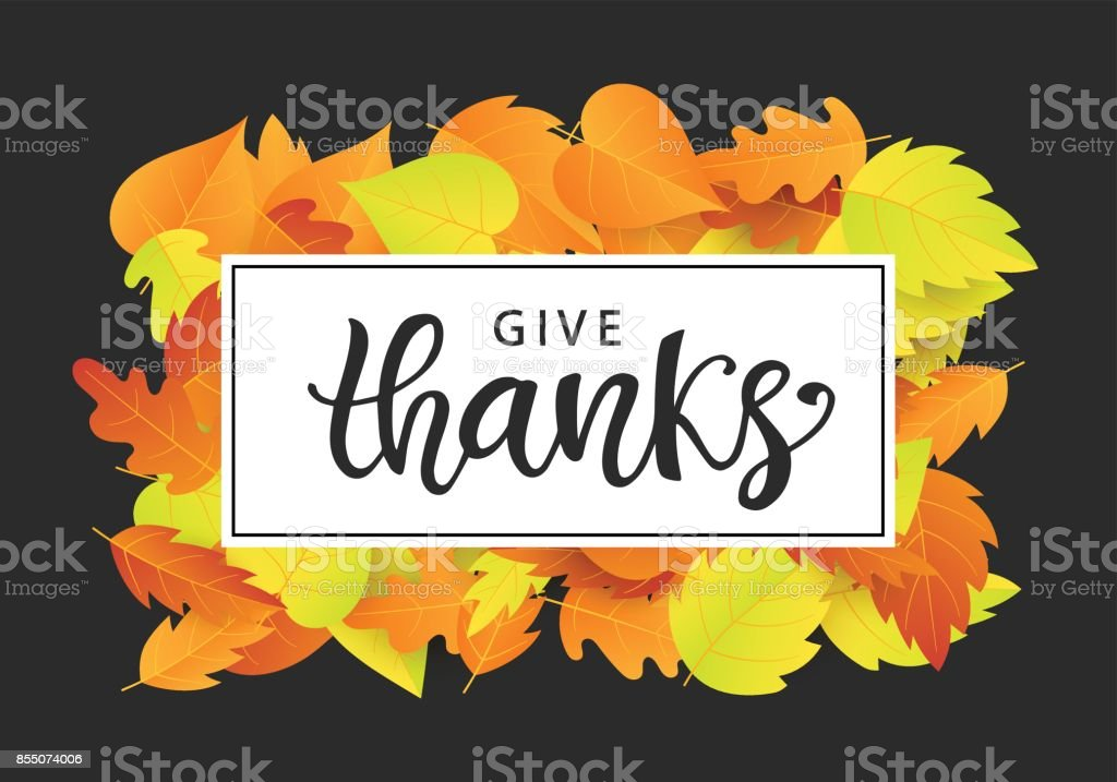 give thanks thanksgiving day poster template stock vector art more