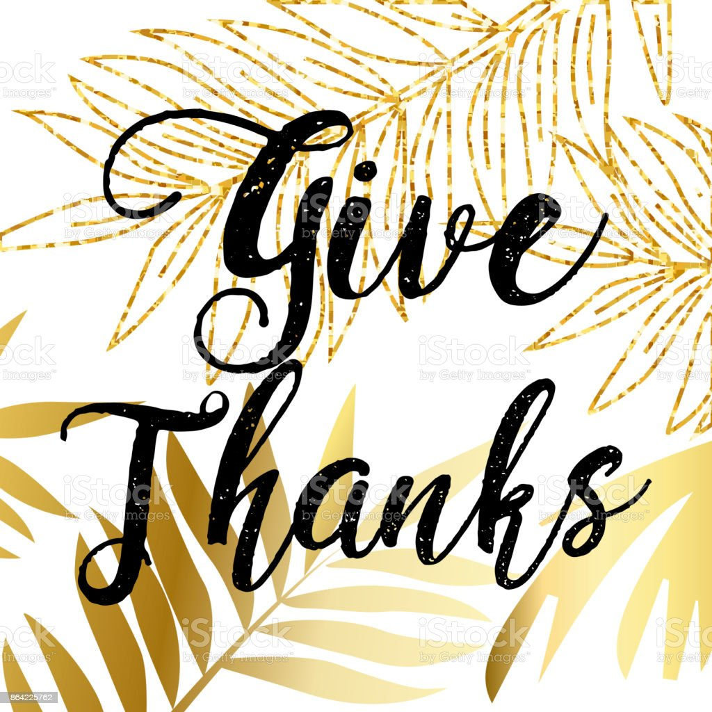 Give Thanks, Typography and Background design royalty-free give thanks typography and background design stock vector art & more images of abstract
