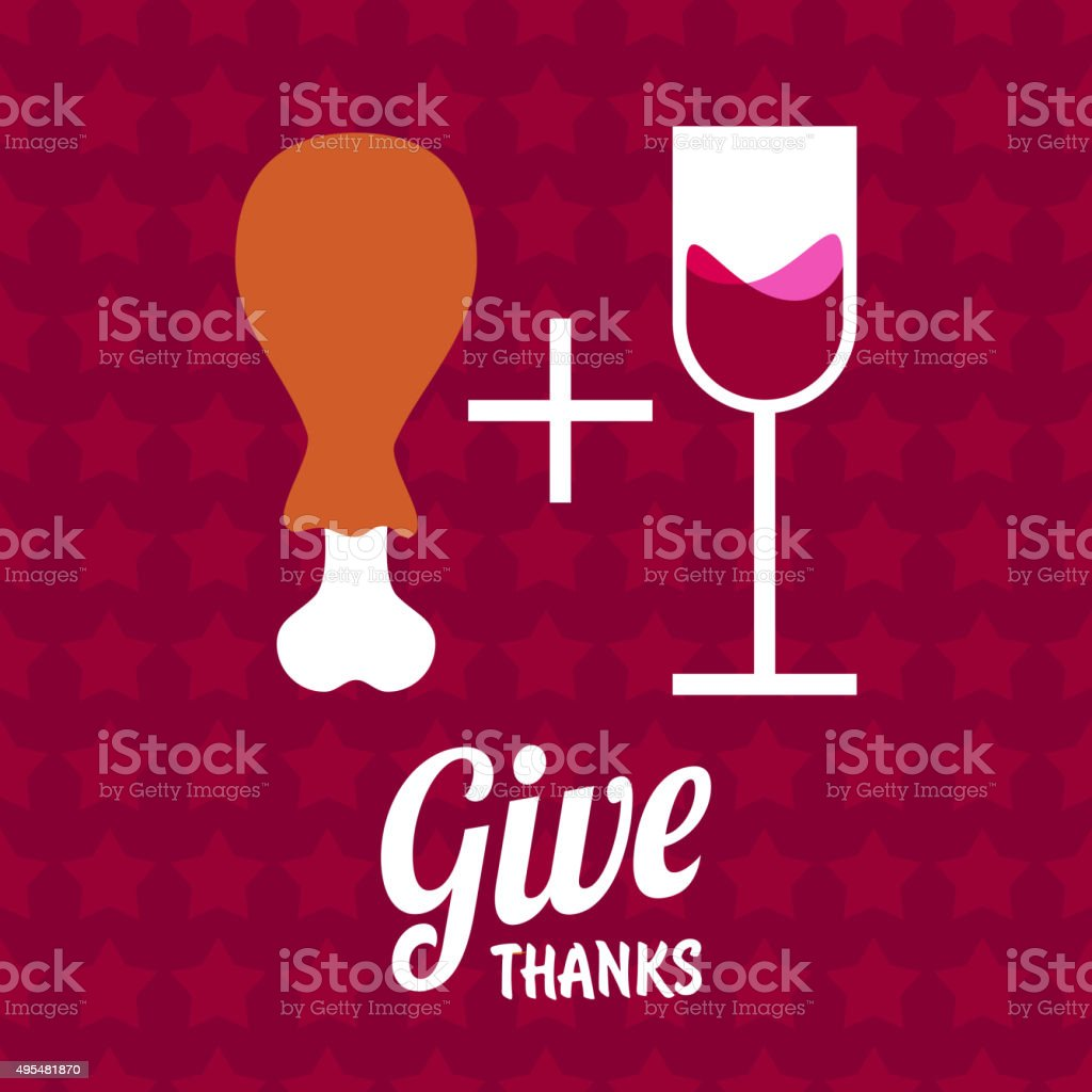 Give Thanks vector art illustration
