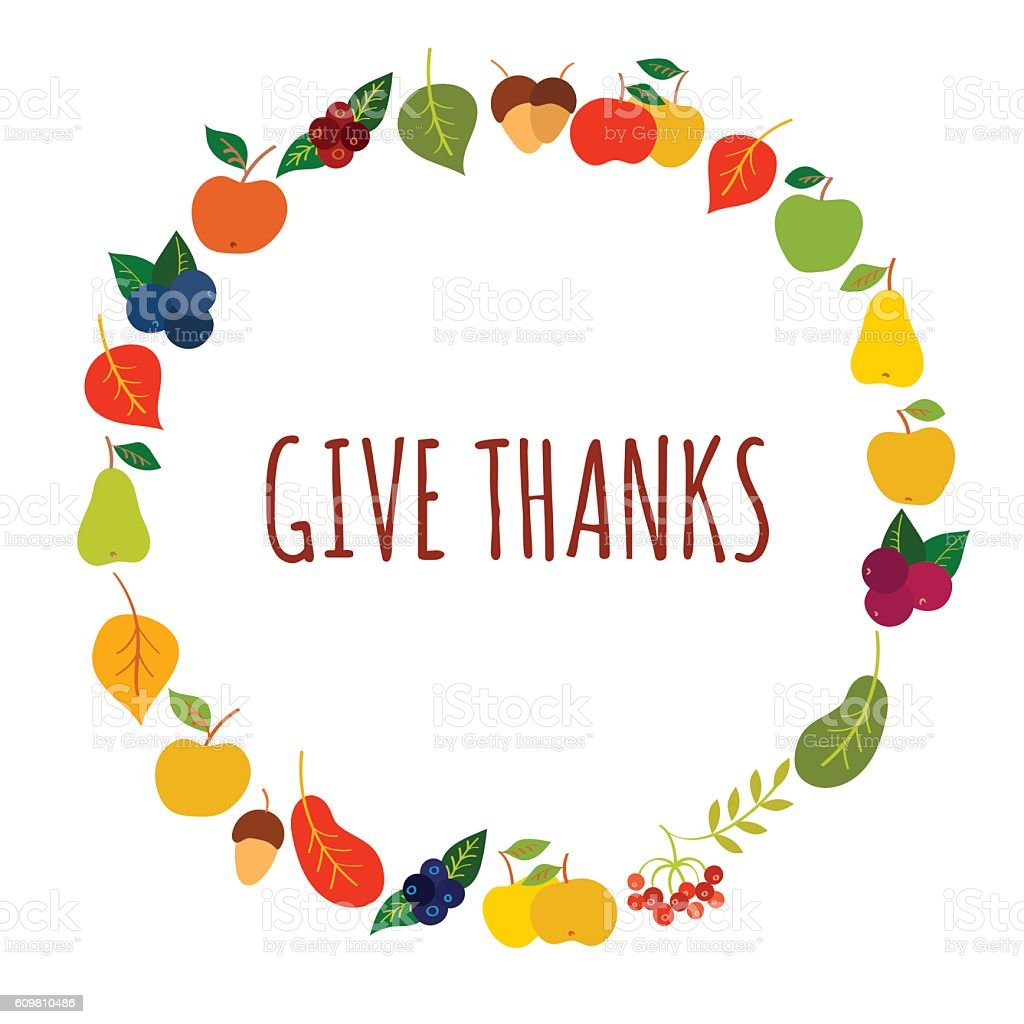 Give Thanks Vetor Card Template Stock Vector Art & More Images of ...