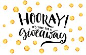 Giveaway banner for social media contests and special offer. Vector