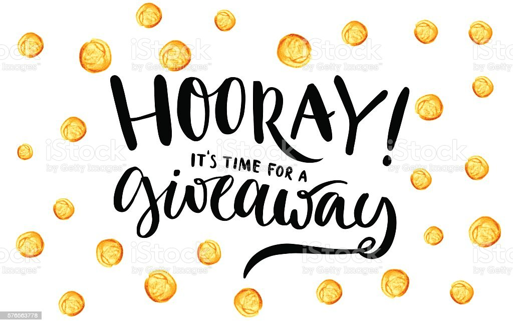Giveaway banner for social media contests and special offer. Vector vector art illustration
