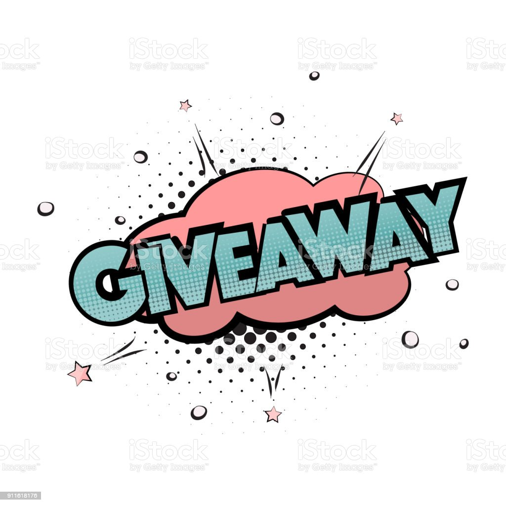 Giveaway Pop Art Print Gift Lettering Poster Win Prize