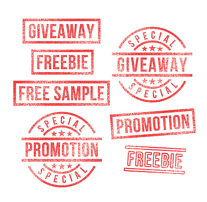 Giveaway Promotion Free Sample Marketing Rubber Stamps