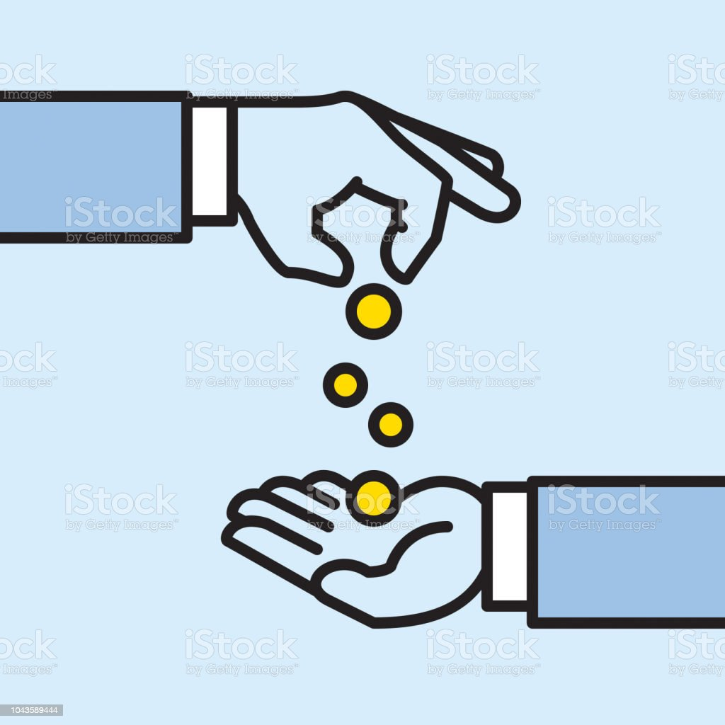 Giver And Taker Hands Stock Illustration - Download Image Now