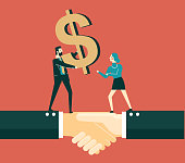istock Giving money - Businesswoman 1218875190
