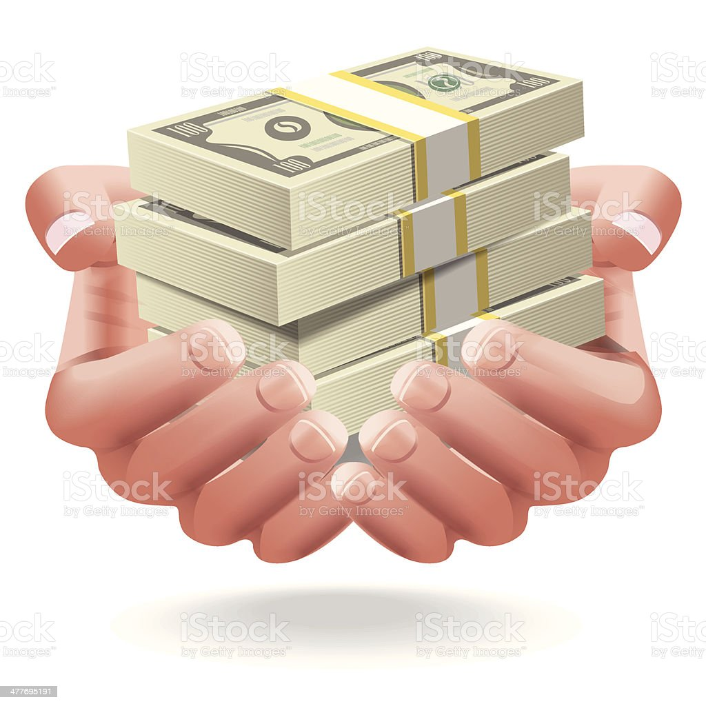 Giving Money royalty-free giving money stock vector art & more images of accidents and disasters