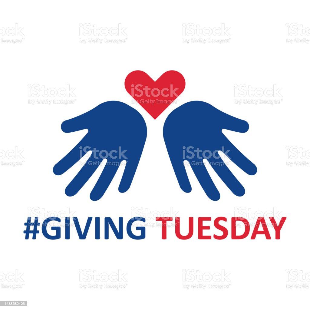 El martes. Ayudar a la mano con la forma del corazón - Ilustración de stock de Ayuda libre de derechos
