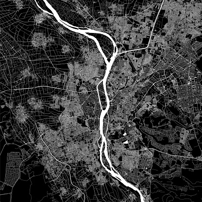 Giza / Cairo, Egypt Vector Map