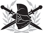 Gladiator helmet emblem