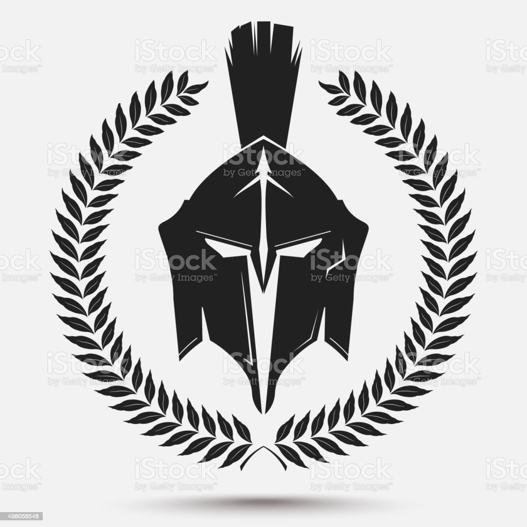 Gladiator Helmet With Laurel Wreath Royalty Free Stock Vector Art