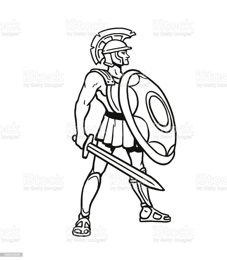 gladiator stockvectorkunst en meer beelden alleen