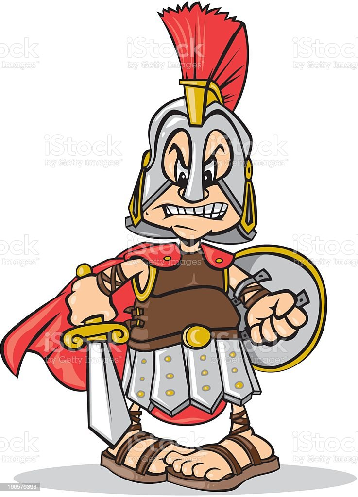 Ilustración de Gladiator y más banco de imágenes de Armadura ...