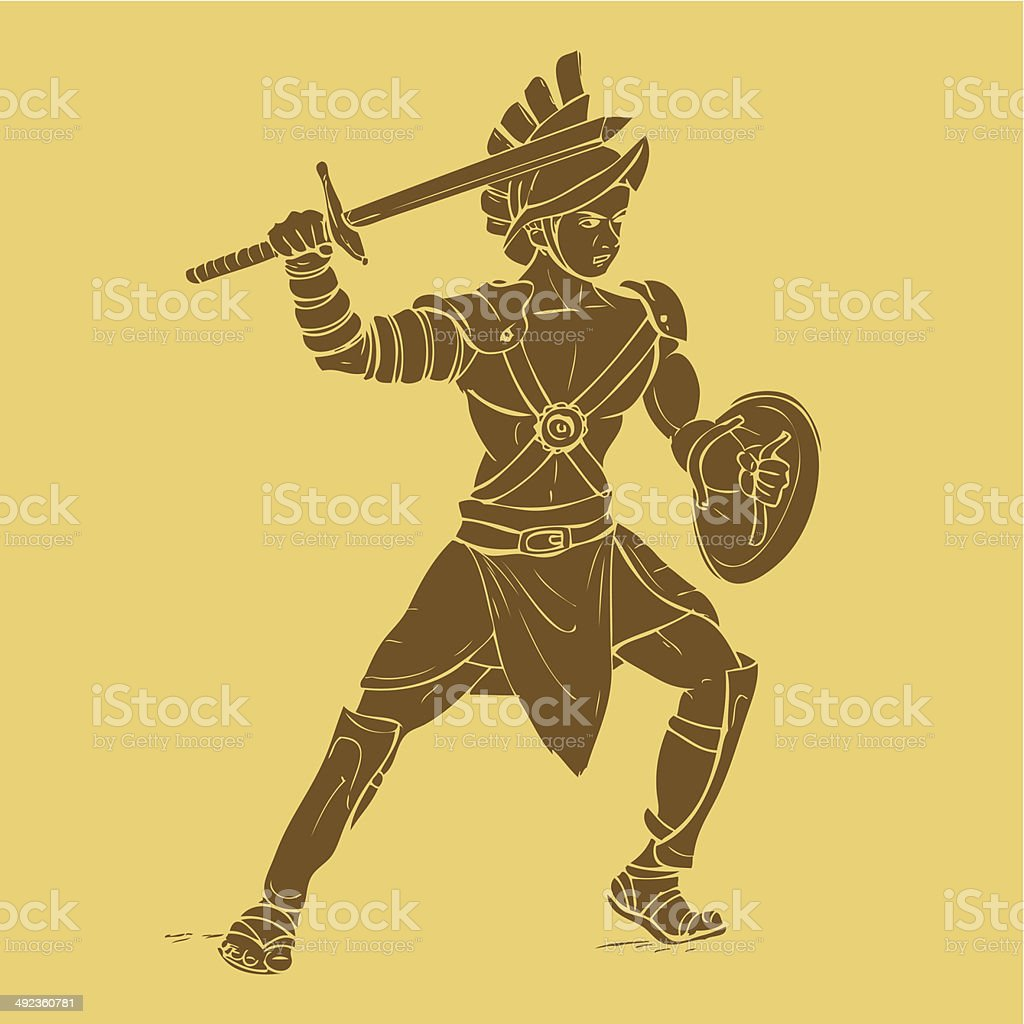 Gladiator royalty-free stock vector art
