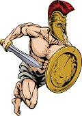 Gladiator warrior sports mascot