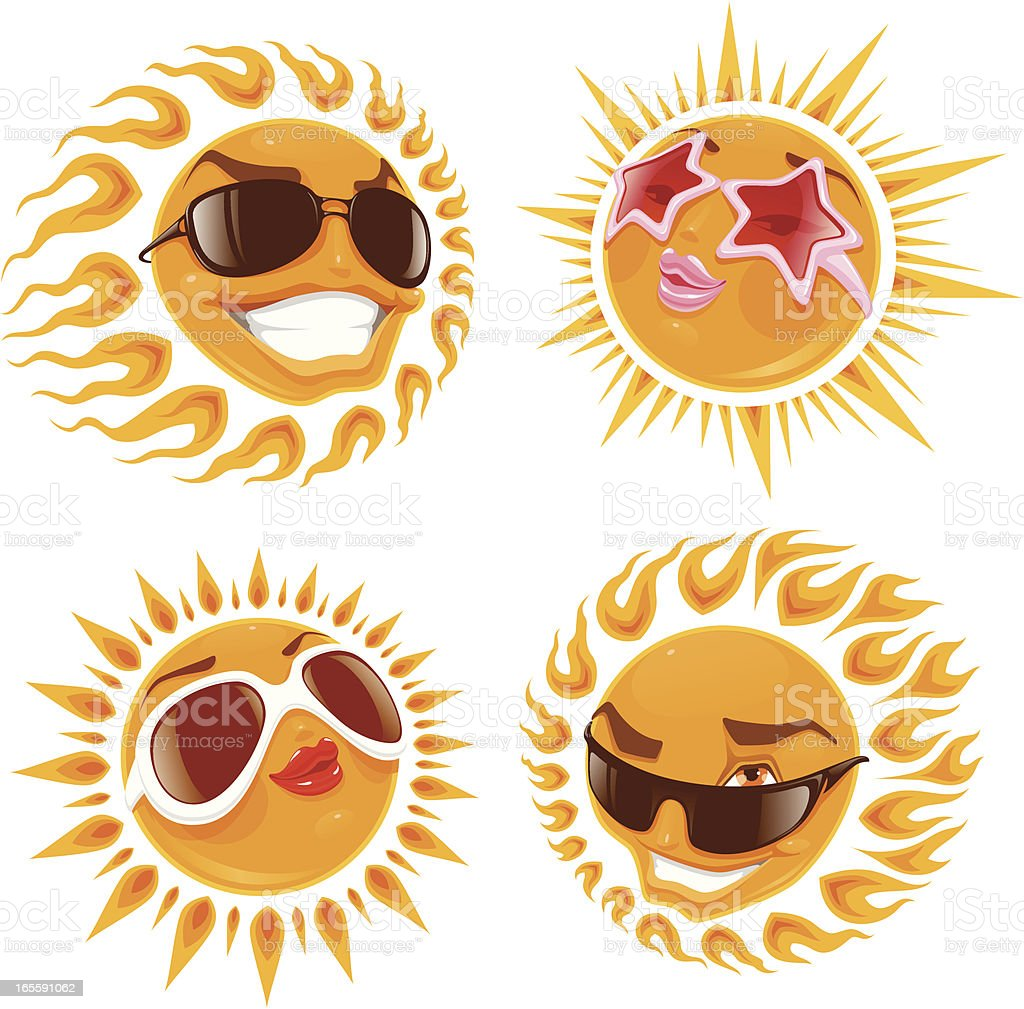 Glamor suns royalty-free glamor suns stock vector art & more images of anthropomorphic smiley face