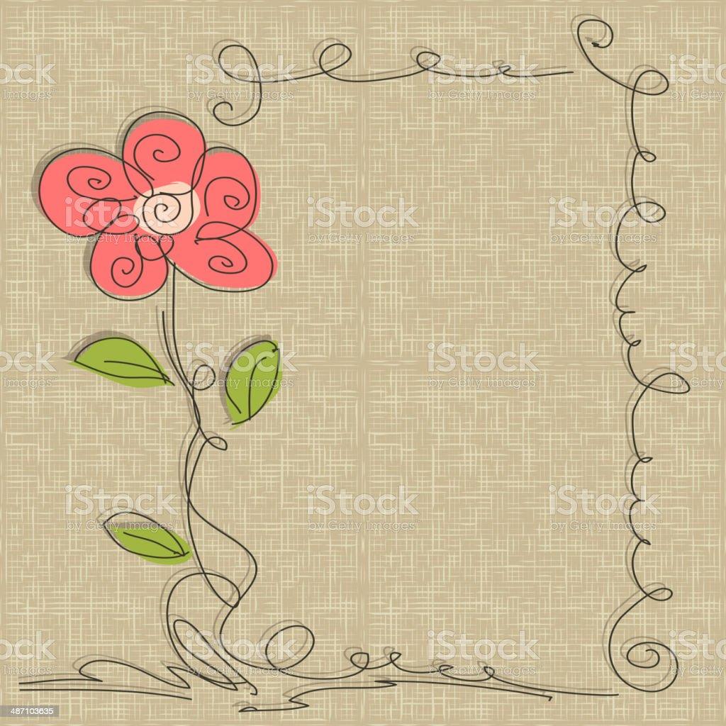 Glamorous doodle frames vector art illustration