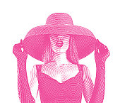 Glamorous woman wearing retro style fashion