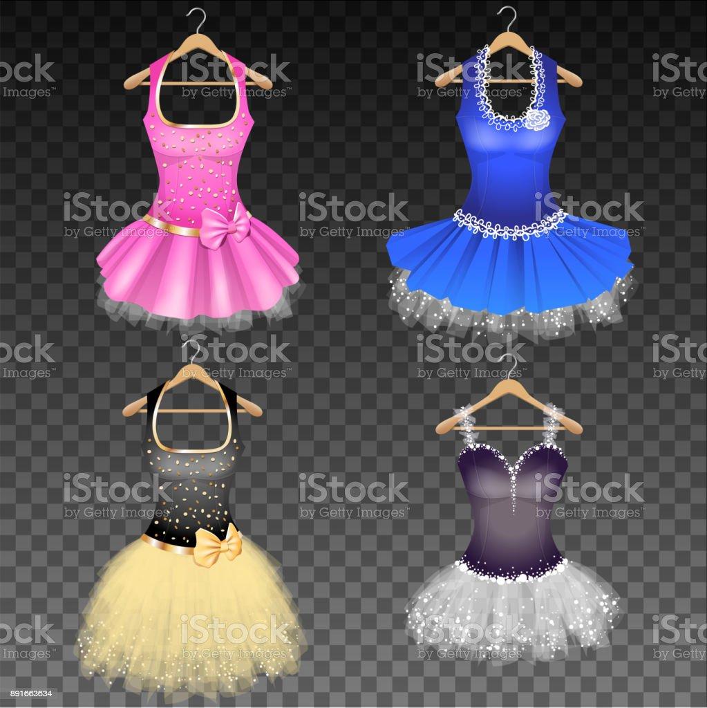 Glamour Dresses - ilustração de arte vetorial