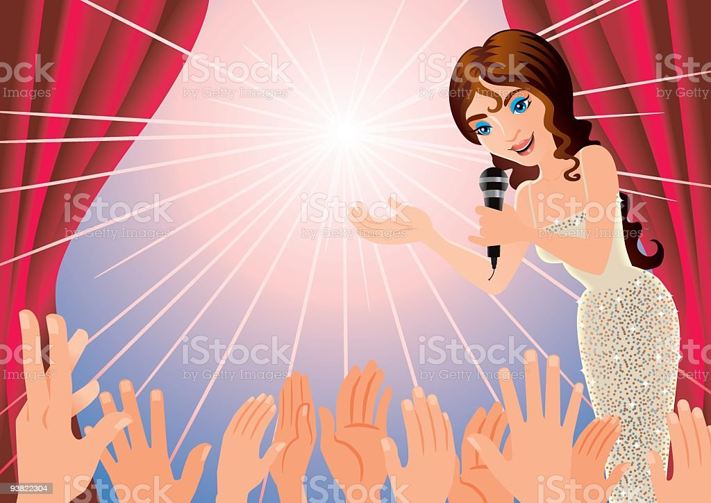 Glamour Presentation royalty-free stock vector art
