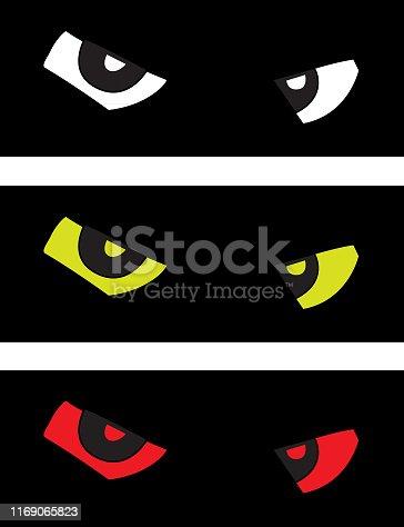 istock Glaring Eyes Icons 1169065823