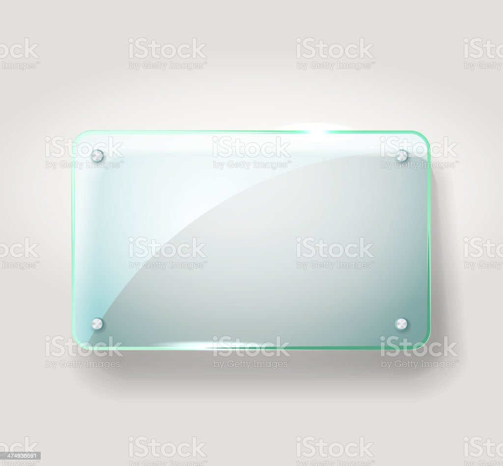 Glass advertising board royalty-free stock vector art