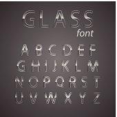Vector glass alphabet.