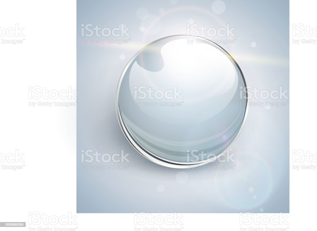 Glass ball  background royalty-free stock vector art