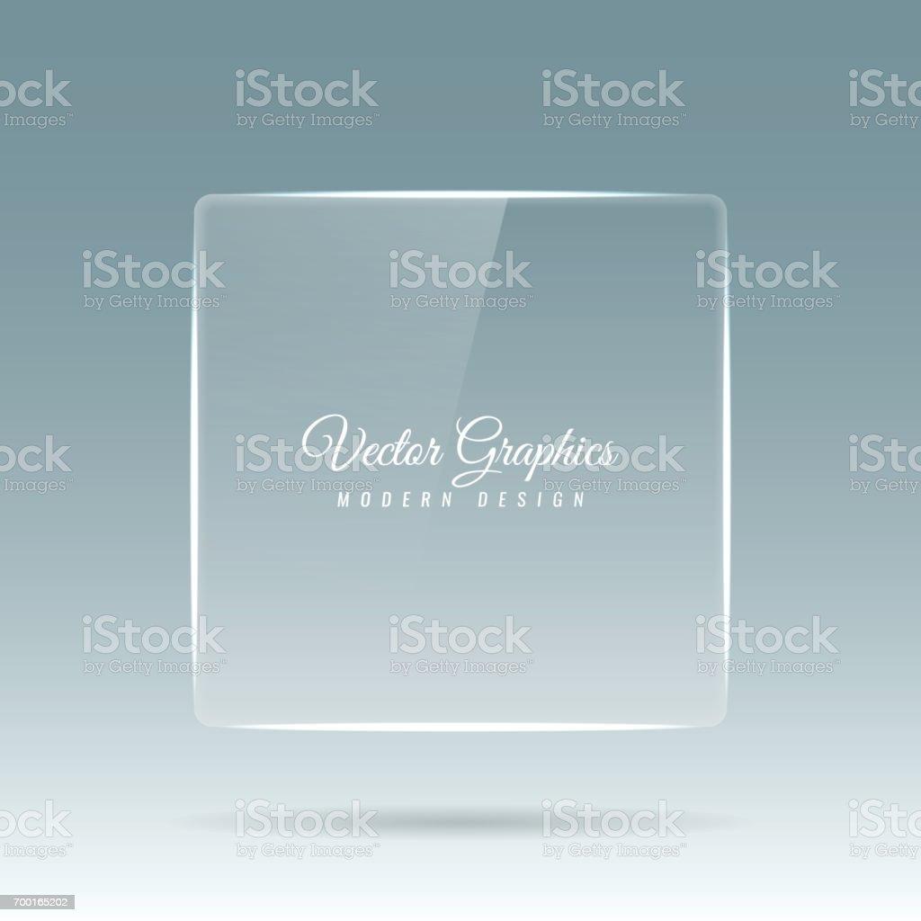 ガラスのバナーです。透明な幾何学的図形。 ベクターアートイラスト