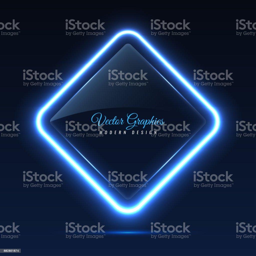 Bandera de cristal. Transparentes formas geométricas. - ilustración de arte vectorial