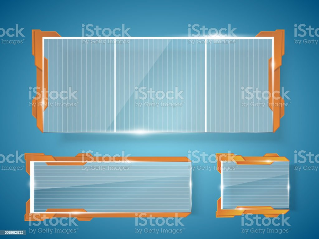 Glass banners isolated on transparent background. Vector template royalty-free glass banners isolated on transparent background vector template stock vector art & more images of abstract