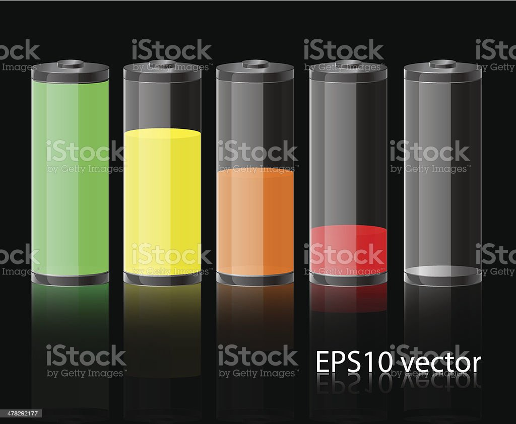 glass battery icon royalty-free stock vector art