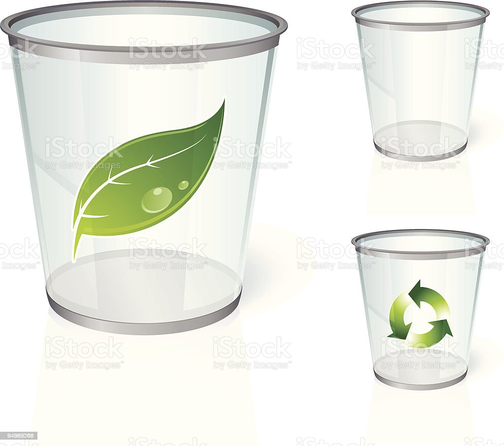 Glass bin royalty-free stock vector art