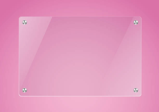 glass board in pink backgorund - ガラスのテクスチャ点のイラスト素材/クリップアート素材/マンガ素材/アイコン素材