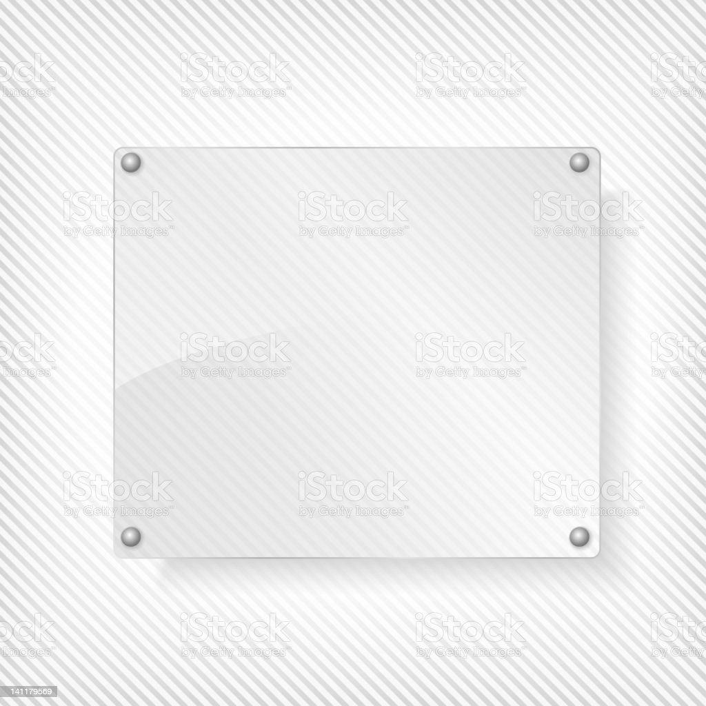 Glass board royalty-free stock vector art