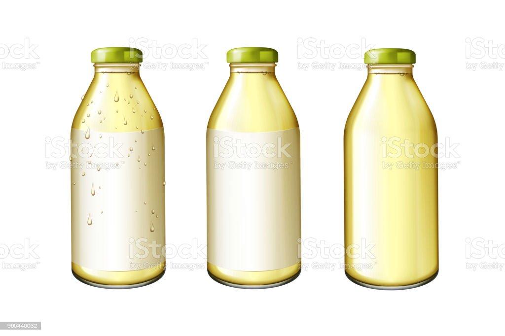 Glas Flasche Saft - Lizenzfrei Apfelsaft Vektorgrafik