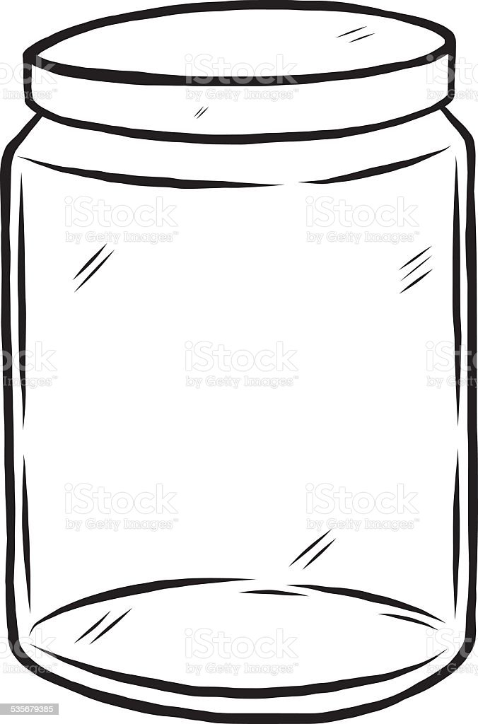 glass bottle vector art illustration