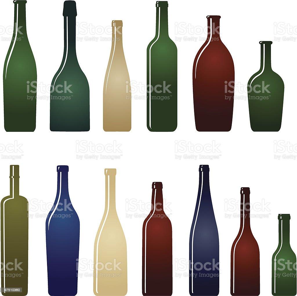 Glass bottles royalty-free glass bottles stock vector art & more images of alcohol