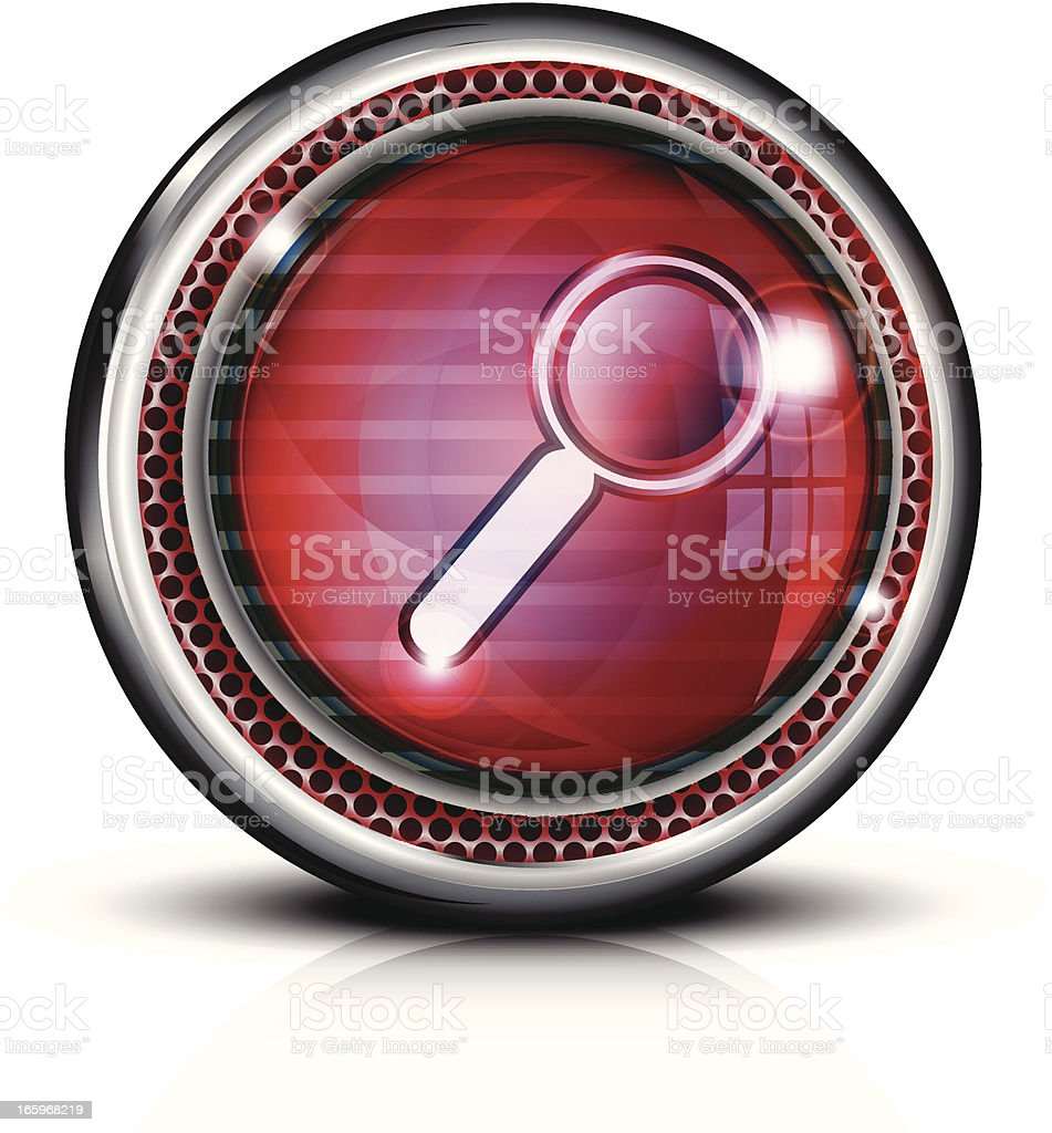 Glass Button Icon | Search royalty-free stock vector art