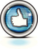 istock Glass Button Metal Rim | Thumbs Up 165968676