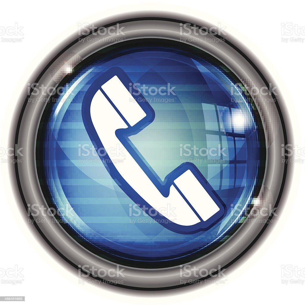 Glass Button | Phone Contact royalty-free stock vector art