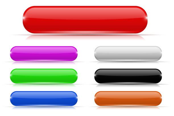 玻璃紐扣。彩色收藏 - 按鈕 幅插畫檔、美工圖案、卡通及圖標