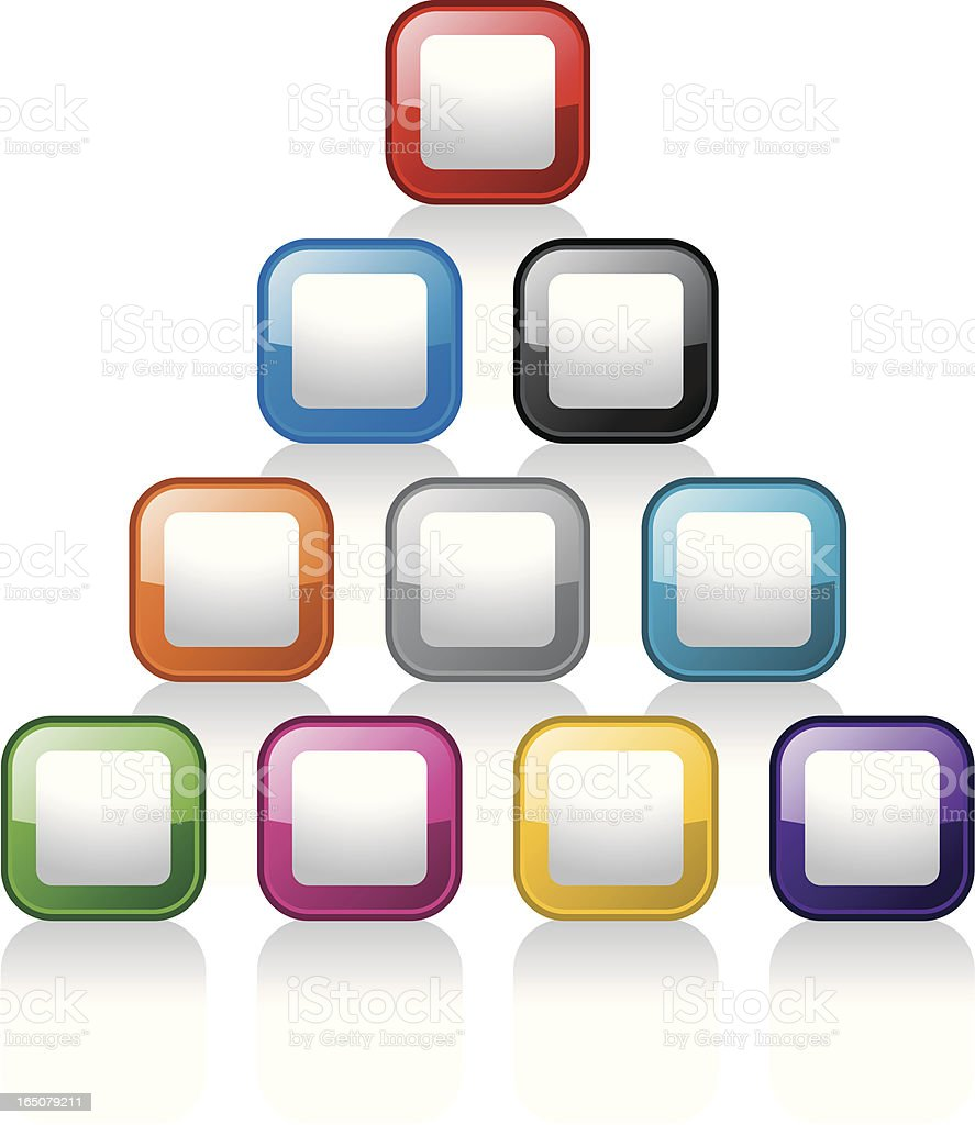 Glass Buttons: Cubes royalty-free stock vector art