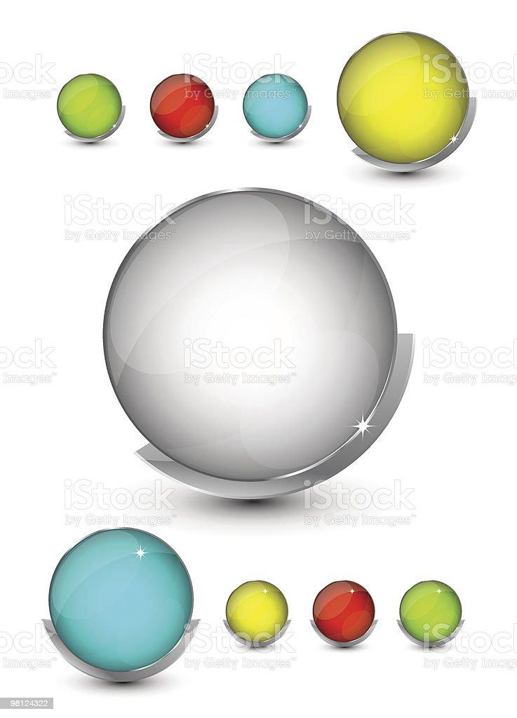 Bottoni in vetro bottoni in vetro - immagini vettoriali stock e altre immagini di argento royalty-free