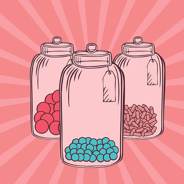 Best Candy Jar Illustrations Royalty Free Vector Graphics